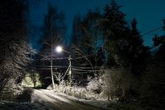 Winter night royalty free stock photography