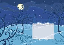 Winter night background Royalty Free Stock Photo