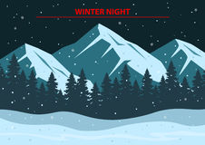 Winter Night Background Royalty Free Stock Images