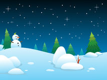 Winter Night BG Stock Images