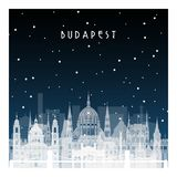 Winter night in Budapest. Stock Images