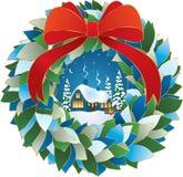 Winter night Christmas Eve. Vector illustration of a Winter Night Christmas Eve Royalty Free Stock Photo