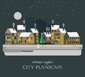 Winter night city background Royalty Free Stock Photography