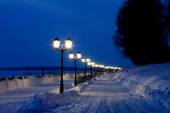 Winter night cityscape Stock Photography