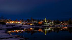 Winter night and lake McCall Idaho Stock Photos
