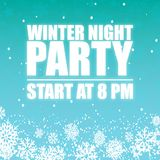 Winter Night Party 8PM Sky Background Vector Image Stock Photos