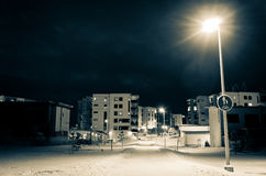 Winter night scene Stock Image