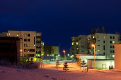 Winter night scene Stock Photography