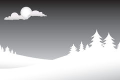 Winter Night Scene Royalty Free Stock Photo
