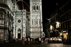 Winter night scene in Florence, Italy Stock Image