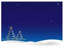 Winter night sky Stock Photo