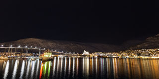 Winter night at Tromso Stock Image
