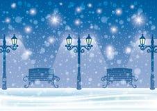 Winter night. Royalty Free Stock Image