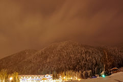 Winter night view landscape Royalty Free Stock Photos