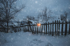 Winter nightfall Royalty Free Stock Images