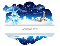 Winter nighttime landscape Royalty Free Stock Photography