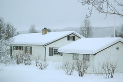 Winter in the nordic country Stock Photos