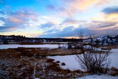 Winter north lake Royalty Free Stock Photo