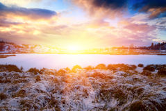 Winter north lake Royalty Free Stock Photos