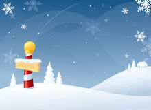 Winter at the North Pole. Snowy North Pole Christmas scene Royalty Free Stock Photos