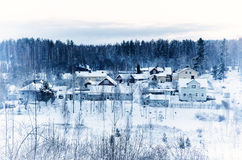 Winter northern town Royalty Free Stock Image