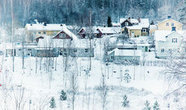 Winter northern town Stock Photography