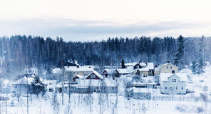 Winter northern town Stock Image
