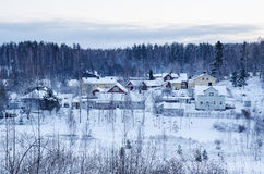 Winter northern town Royalty Free Stock Photography