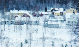 Winter northern town Royalty Free Stock Photos