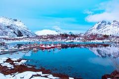 Winter-Norway See Lizenzfreies Stockbild