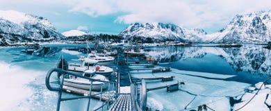 Winter-Norway See stockbilder