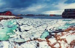 Winter-Norwegen-Landschaft Lizenzfreies Stockfoto