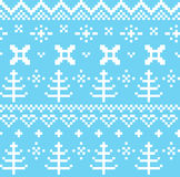 Winter Norwegian seamless knitting pattern Stock Photo