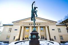 Winter at the Norwegian Stock Exchange stock photography