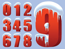 Winter numbers Stock Images