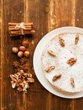 Winter nut pie Stock Photo