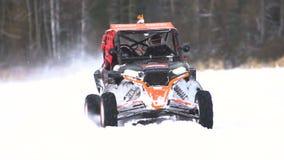 Winter off-road racing. stock video