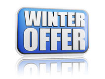 Winter offer blue banner Stock Image