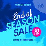 Winter offer end of season sale banner Royalty Free Stock Image