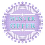 Winter offer label Royalty Free Stock Photos