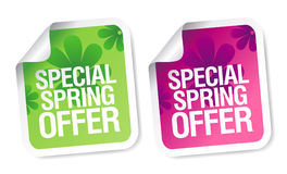 Winter offer stickers. Stock Photo