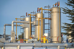 Winter oil and gas industry royalty free stock image