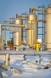 Winter oil and gas industry Stock Image