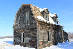 Winter old house Royalty Free Stock Image