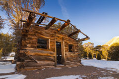 Winter Old West Cabin Royalty Free Stock Photos