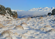 Winter on the old woman range Royalty Free Stock Image