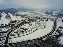 Pyeong Chang 2018 Winter Olympic Ski Jump Center. 2018 Winter Olympic Ski Jump Center Pyoeng Chnag Korea taken on 28.12.2016 Stock Photos