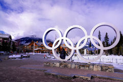 Winter Olympics. At Whistler in Vancouver Royalty Free Stock Photo