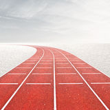 Winter Olympics. Template with running track in winter landscape Royalty Free Stock Photography