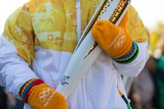 Winter Olympics torch relay arrived in Thessaloniki Royalty Free Stock Photos